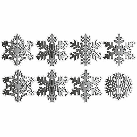 8 Black Christmas Snowflakes