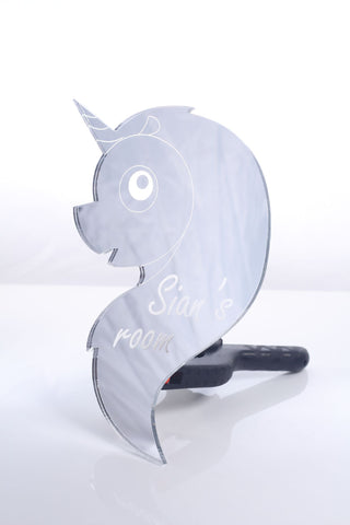 Personalised Unicorn Head Plaque