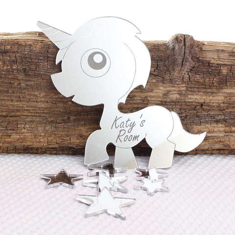 Personalised Unicorn and Stars Plaque