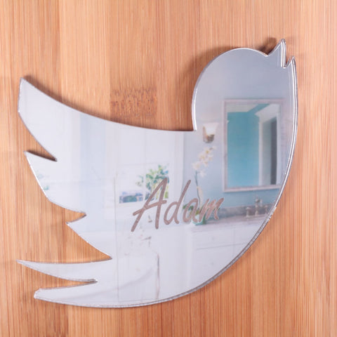 Personalised Mirror Bird Plaque