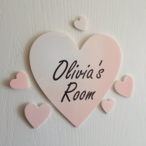 Personalised Pink Colour Heart Plaque