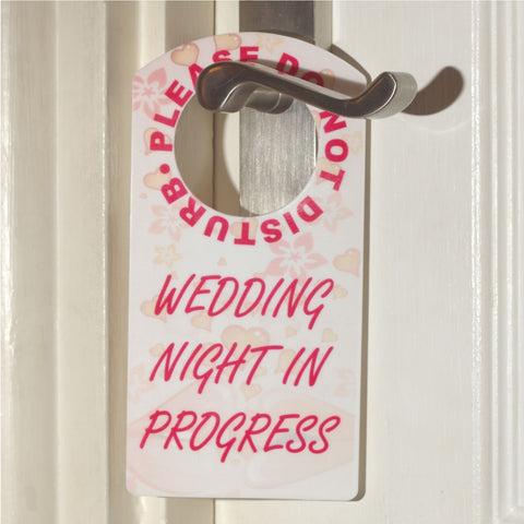 Please Do Not Disturb Wedding Night In Progress