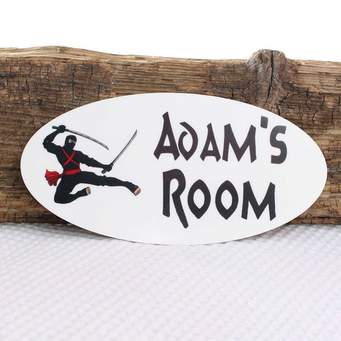 Personalised Door Ninja Warrior Plaque