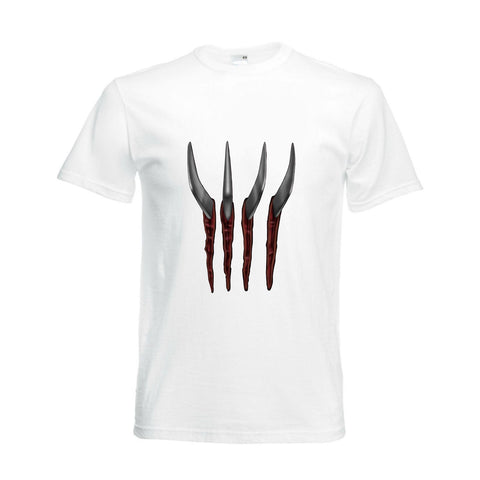 White Mens Slash Slasher Zombie TShirt