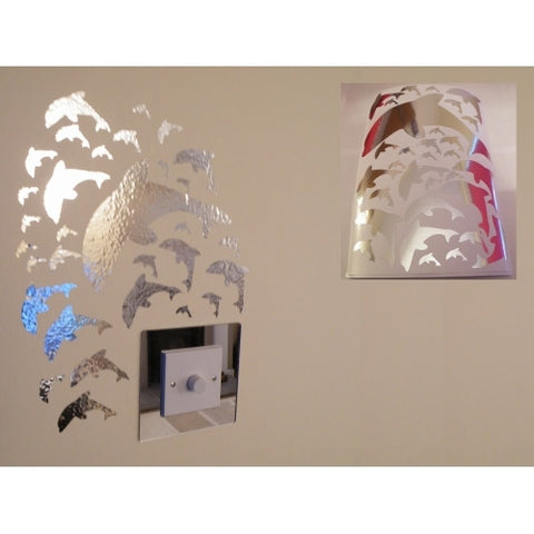 Mirror Dolphin Wall Stickers