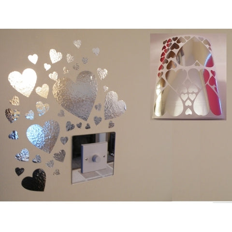 Mirror Heart Wall Stickers
