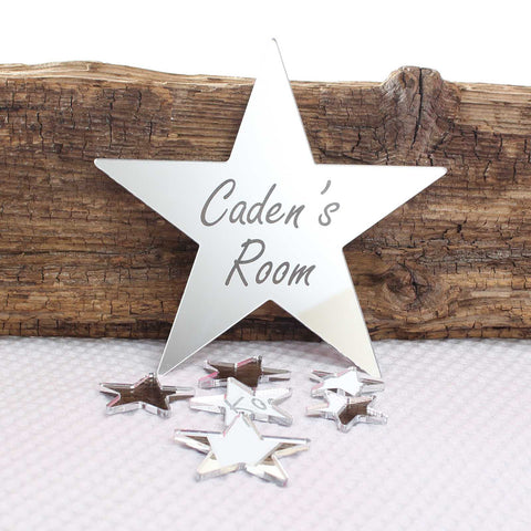 Personalised Mirror  Star Set