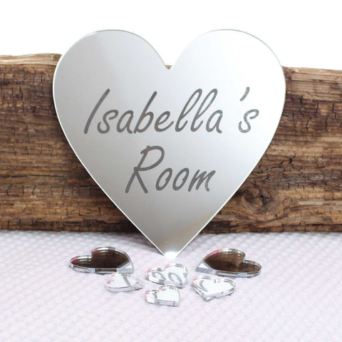 Personalised Mirror  Heart