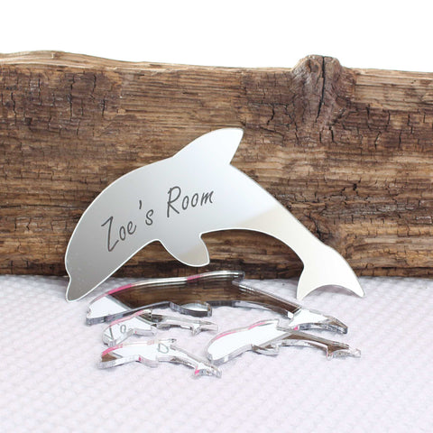 Personalised Mirror  Dolphin
