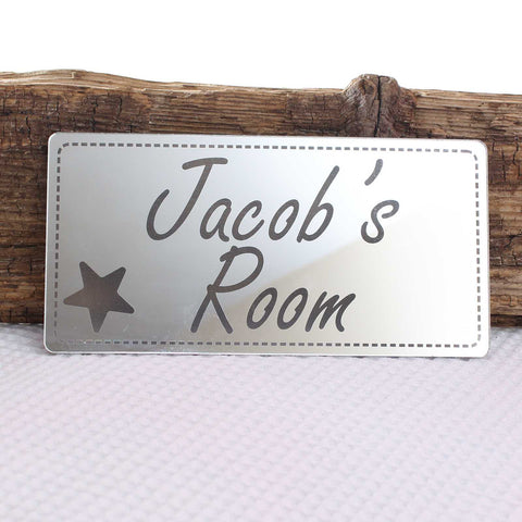Shabby Chic Mirror Rectangle Personalised Plaque