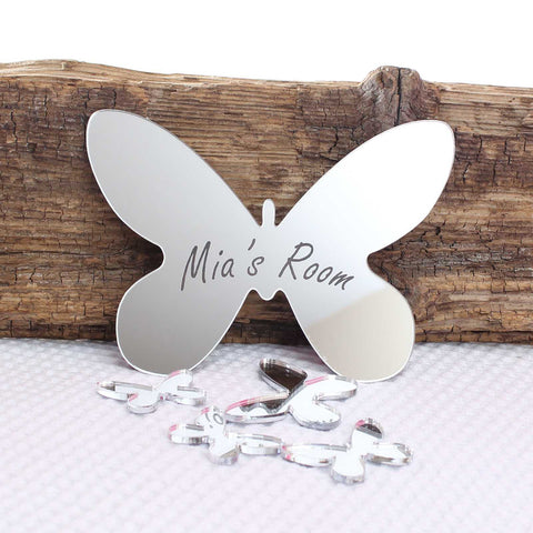 Personalised Mirror Butterfly Set