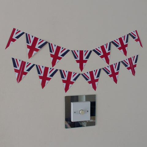 12 UK Flag Bunting Stickers