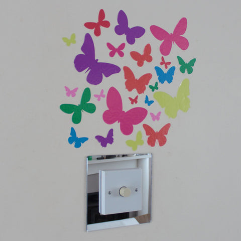 24 Butterfly Stickers Multicoloured