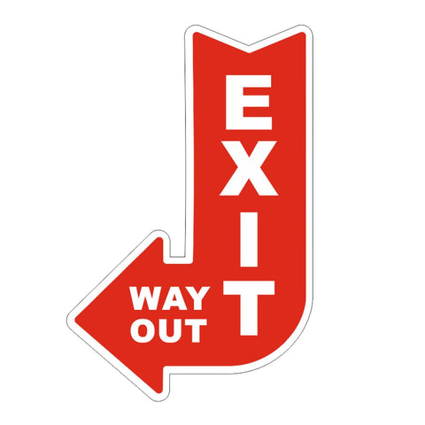 Way Out Exit Acrylic sign/plaque