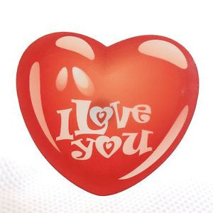 Balloon I Love You Red Heart Acrylic wall plaque decoration