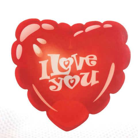 Bubble I Love You Red Heart Acrylic wall plaque decoration