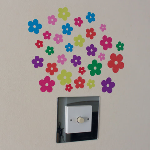 31 Multi Colour Flower Stickers