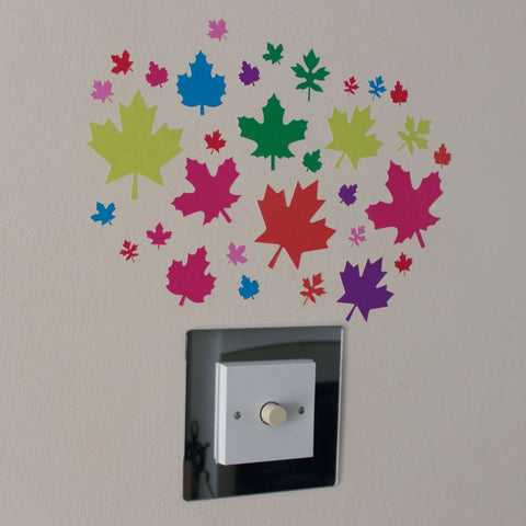 32 Multi Colour Leaf Stickers