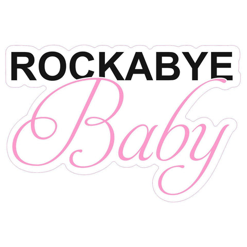 ROCKABYE Baby Door or Wall Art Sticker