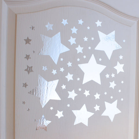 Mirror Slanted Star Wall Stickers
