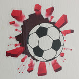 Football, Tennis or Super Hero Smashing through Brick Wall Door or Wall Art Sticker