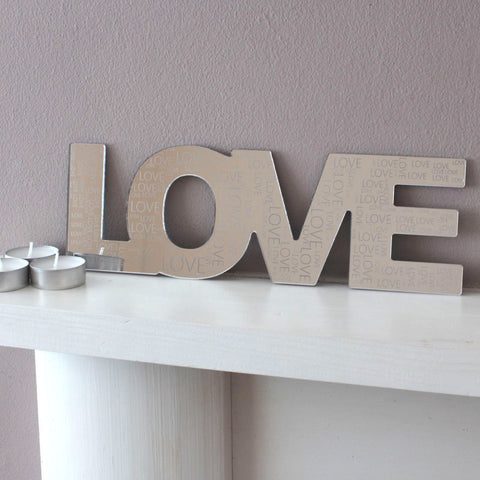 Love Home Mum Dad Mirror Engraved Acrylic Wall Art