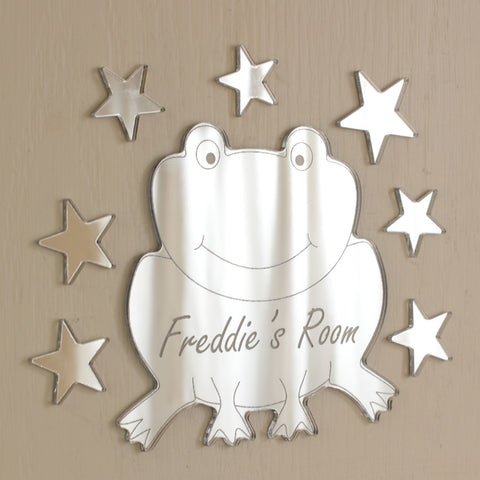 Frog Acrylic Mirror Set Personalised Plaque