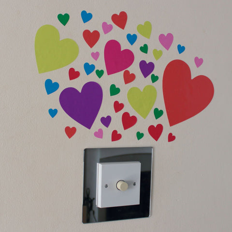 37 Multi Colour Heart Stickers