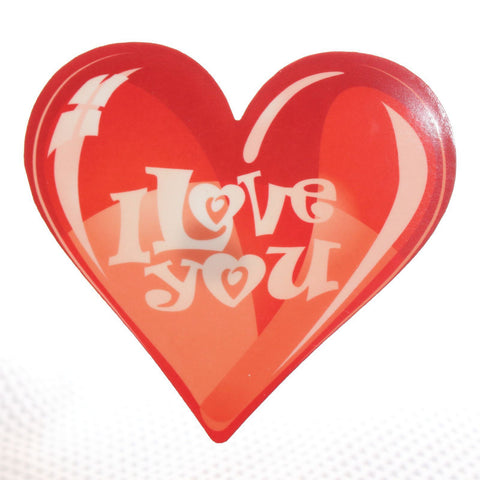 I Love You Red Heart Acrylic wall plaque decoration