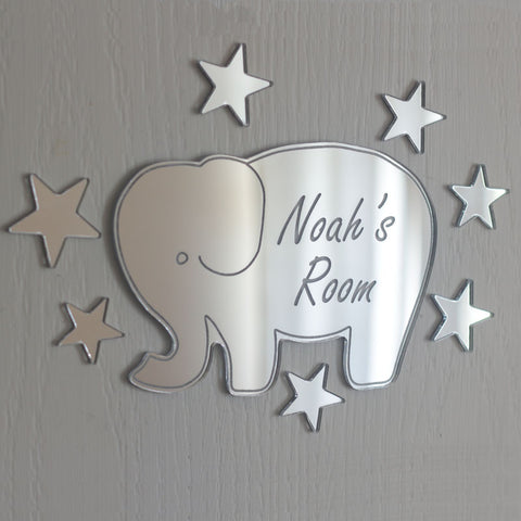 Elephant Mirror Set Personalised Plaque