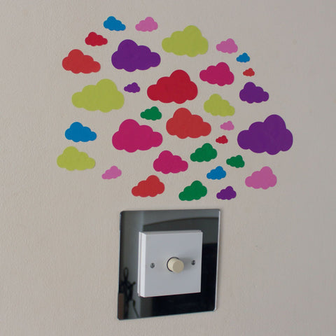 32 Multi Colour Cloud Stickers