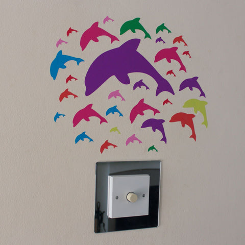 31 Multi Colour Dolphin Stickers