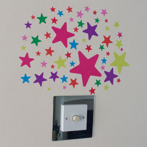 57 Multi Colour Star Stickers