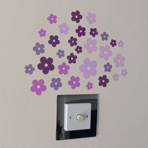 31 Pink and Lilac Flowers Stickers