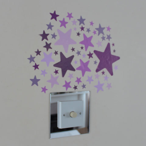 66 Star Stickers Pink Lilac