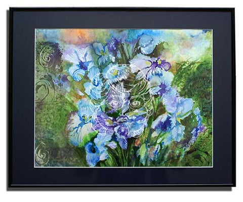 Blue Iris - Original Painting