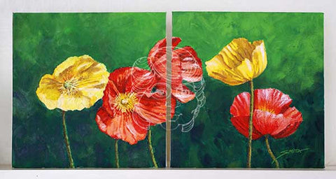 Remember the Poppies - Original Painting