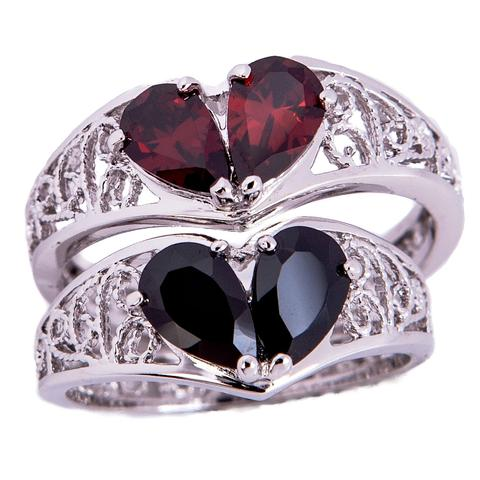 Widows Ring Broken Heart Sterling ring for women
