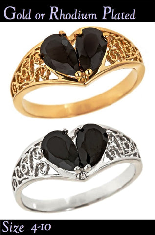 BROKEN HEART Patented Design Plated Rings