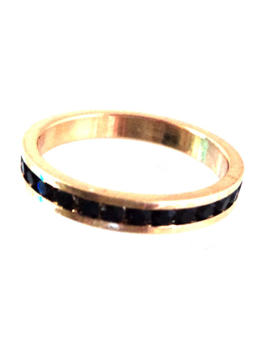 Plated Channel Set Eternity Ring