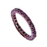 WIDOWS 3rd RING Plated Eternity Band