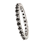 WIDOWS 3rd RING  Sterling Silver Eternity Band