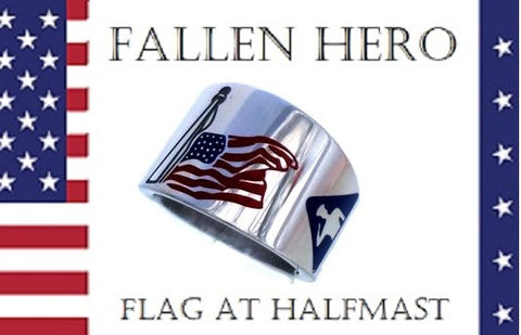 FLAG @ HALF-MAST FALLEN HERO RING
