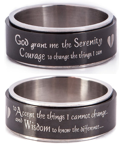 SERENITY PRAYER Spinning Prayer Wheel Ring