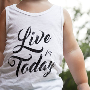 Live For Today Tank Top - Organic Clothing By Wolf Pup Threads - 2
