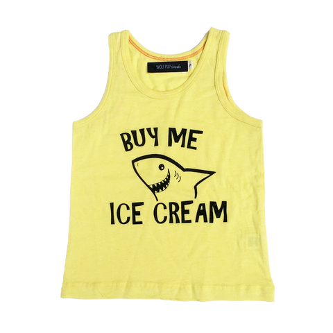 Buy Me Ice Cream Tank Top - Organic Clothing By Wolf Pup Threads - 1