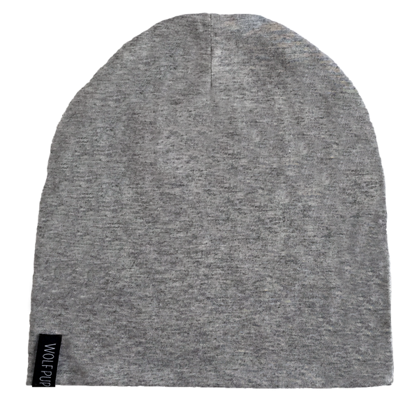 Grey Wolf Beanie - Organic Clothing By Wolf Pup Threads