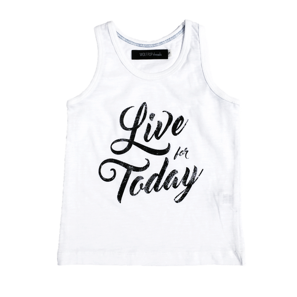 Live For Today Tank Top - Organic Clothing By Wolf Pup Threads - 1