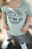 Hug a Tree, Kiss the Sea T-Shirt - Organic Clothing By Wolf Pup Threads - 2