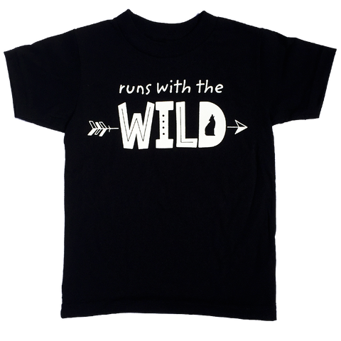 Runs With The Wild T-Shirt - Organic Clothing By Wolf Pup Threads - 1